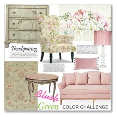 """""""Blush and Green...Colors From the Garden"""" by ahapplet on Polyvore featuring interior, interiors, interior design, home, home decor, interior decorating, Home Decorators Collection, Avery, Baxton Studio and Bluebellgray"""