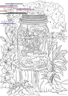 Fantasy Lion - Printable Adult Coloring Page from Favoreads (Coloring book pages for adults and kids, Coloring sheets, Coloring designs) The gnomes are having a good time in their little fantasy land. This adult coloring page is great for fairy tale fans. Lion Coloring Pages, Printable Flower Coloring Pages, Shape Coloring Pages, Detailed Coloring Pages, Coloring Sheets For Kids, Halloween Coloring Pages, Printable Adult Coloring Pages, Christmas Coloring Pages, Coloring Books