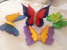 Mariposas tridimensionales en goma eva