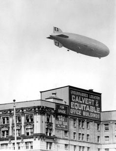 The Hindenburg flies over Baltimore, 1936 | Baltimore Or Less
