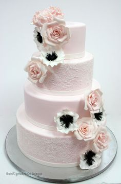 Wedding Cakes New Jersey - Blush and Lace Custom Cakes