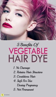 Ever thought of dyeing your hair with...veggies? Click to read 5 reasons why you should consider DIY vegetable hair dye!