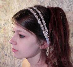 PEARL GRECIAN HEADBAND Simple Elegance by RibbonAndBeadworks, $45.00