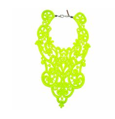 A+R StoreLace Bib Necklace - Neon
