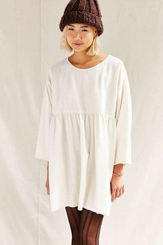 Urban Renewal Recycled Ruffle Flannel Tunic Dress - Urban Outfitters