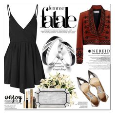 """""""www.nereid.com"""" by oshint ❤ liked on Polyvore featuring Glamorous, Temperley London, Balmain, Jimmy Choo, Edie Parker and Yves Saint Laurent"""