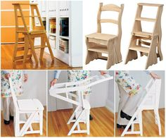 Perfect DIY Ideas: The Perfect DIY 2 in 1 Step Stool Chair - The Perf...
