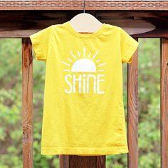 Shine Yellow Shirt Cute Shirts for Girls Girls by GaffrenGraphics