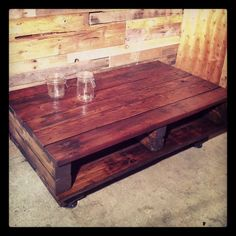 Reclaimed Wood Beam Coffee table