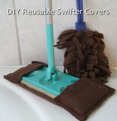 How To Make Reusable Swifter Covers...http://homestead-and-survival.com/how-to-make-reusable-swifter-covers/