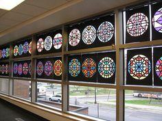 "Vitralls de paper. ""stained glass"" tissue paper | Flickr: ¡Intercambio de fotos!"