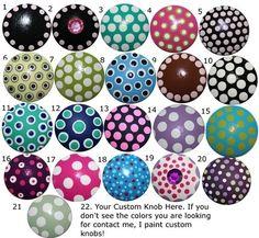 Drawer knobs...cute!