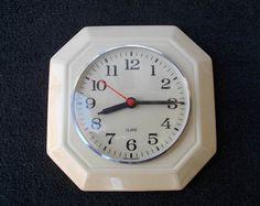 Kitchen ceramic clock, wall clock, retro clock, home decor clock, Quarz clock, Germany clock, cool clock, vintage clock, cool clock Retro Clock, Cool Clocks, Clock Wall, Vintage Walls, Germany, Cool Stuff, Unique Jewelry, Kitchen, Handmade