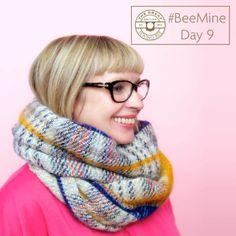 Cosy tweed infinity scarf