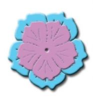 """Cherry Blossom - $8.97 Cherry Blossom die cut can be formed to look like the real thing. This die has a knock out hole for a brad to allow the layers to be formed and brought together for a 3-D effect Set of 2 dies 1"""" x 1""""  1.5"""" x 1.5"""""""