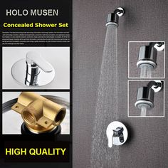 98.90$  Buy now - http://alis0v.shopchina.info/1/go.php?t=32812767331 - High Quality Chrome 3 Shower Way Change Wall Shower Mixer Valve Hot Cold Water Bathroom Concealed Shower Set   #magazineonlinebeautiful