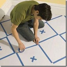 """This Old House has a great tutorial on creating a diamond pattern when painting a wood floor: http://www.thisoldhouse.com/toh/how-to/intro/0,,20312013,00.html"""