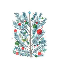 Pine Tree Illustration by Christopher Silas Neal