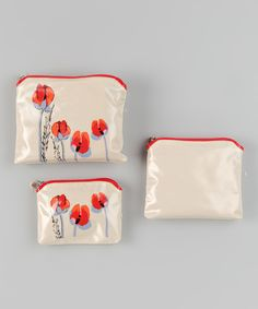 This Poppy Cosmetic Bag Set by Vera is perfect! #zulilyfinds