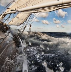 Sails, lines and mast thats what a yacht needs . but what a yacht is . Pirate Life, Sail Away, Set Sail, Tall Ships, Belle Photo, Strand, Sailing Ships, Sailing Yachts, Sailing Boat