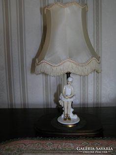 Asztali lámpa Porcelán Balerina szoborral