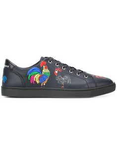 Shop Dolce & Gabbana London rooster print sneakers.