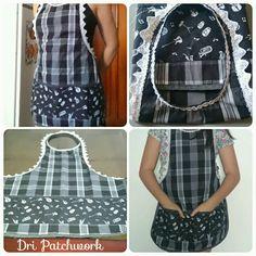 Esse avental foi feito pra quem gosta de música e comida boas!!! #avental #patchwork #costura