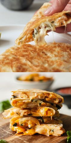 These chipotle veggie quesadillas are smoky, creamy, and full of healthy veggies! I'll be making these for dinner every week. #vegetarian #quesadillas