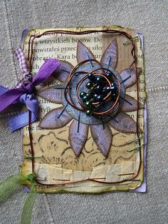 ATC_magical flower by kasiorka_na_flickrze, via Flickr. For My handmade greeting cards visit me at  My English Personal blog: http://stampingwithbibiana.blogspot.com/