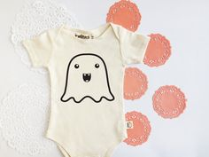 Getting baby ready for Halloween!! <3 <3 Ghost One-piece