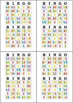 How can you keep Bingo games fun and interesting at your senior facility? Try these three ideas to keep you and your residents interested in a game. From the basics to advanced, you'll find everything bingo here. Multiplication Games, Math Games, Activities For Kids, Math Exercises, Teacher Worksheets, English Activities, Bingo Cards, Math Class, Elementary Education