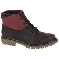 CAT Footwear Black & Wine Tasting Fret Leather Ankle Boot (2.285 RUB) ❤ liked on Polyvore featuring shoes, boots, ankle booties, ankle boots, black lace up boots, black ankle booties, black lace up booties, black leather ankle booties and black booties