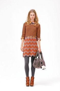 striped shirt + striped skirt