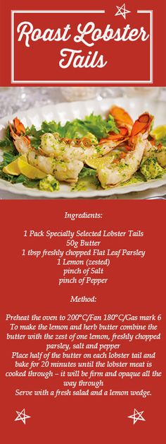 Looking for a posh #Christmas Day starter? Then these Roasted Lobster Tails are the #recipe for you!