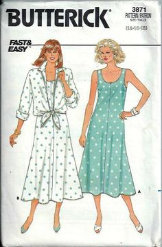 1980's Fast & Easy Butterick 3871 Misses by DawnsDesignBoutique, $12.99