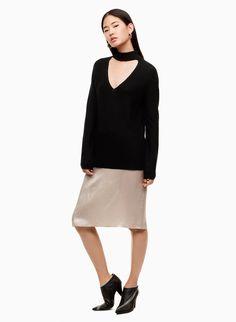 The Abeyta is knit with super-fine merino wool that's luxuriously warm yet lightweight. The choker neckline is specially cut for a flattering, feminine shape. Fall Winter, Winter 2017, Fashion 2017, Merino Wool, Normcore, Feminine, Warm, Knitting, Sweaters