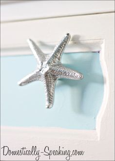 Beach Cottage Dresser with Starfish Knobs