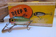 Vintage Fishing Lure Wood's Deep R Doodle 302 Chub by VentureUs, $46.00