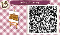 Animal Crossing sign QR Code #qrcode #nintendo #acnl #animalcrossingnewleaf #cute #love #acnlqrcode #videogame