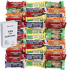 Amazon.com : S.O.S. Food Labs Millennium Assorted Energy Bars (6 Count) - Long Shelf Life Fruit Flavored Bar Bundle - Survival Pack for Calamity, Disaster, Hiking and Meal Replacement - with Emergency Guide : Sports & Outdoors