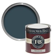 Farrow & Ball Hague Blue no.30 Matt Estate emulsion paint 2.5L | DIY at B&Q