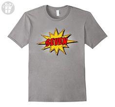 Mens Kids 7th Birthday Comic Superhero T-Shirt for 7 Yr Old Boys XL Slate - Birthday shirts (*Amazon Partner-Link)