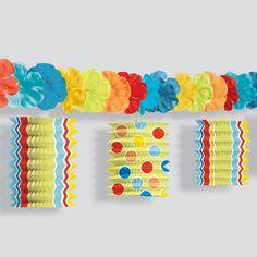 4 guirnaldas de flecos de papel para decoraciones - Farolillos de papel ...