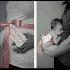 Leuk idee voor een zwangerschaps-/ newbornshoot