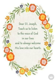 Invoke the blessings of St. Joseph, the husband of the Blessed Virgin Mary and the foster-father of Jesus Christ, with a card that honors the day, March Catholic Books, Catholic Prayers, Catholic School, Prayer Quotes, My Prayer, Faith Quotes, St Joseph Prayer, Saint Joseph, St Joseph Feast Day