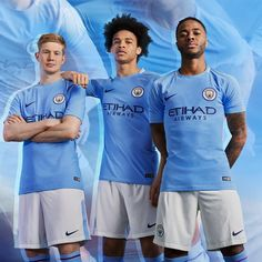 Manchester City Unveils Its Home Kit Nike Football, Football Shirts, Real Madrid Logo, Arsenal Shirt, Burnley Fc, Kun Aguero, Match Of The Day, Stoke City, Recipes