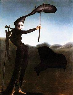 The Javanese Mannequin, 1934   Salvador Dalí #Surrealismo #Painting @deFharo