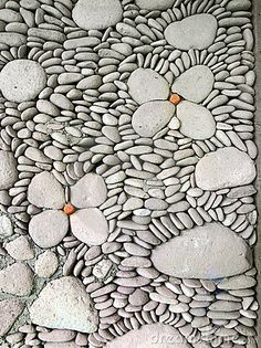 Pebble Wall Detail, Bali