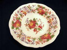 Copeland Spode's Aster Large Rimmed Soup Bowl by JuleesTreasures