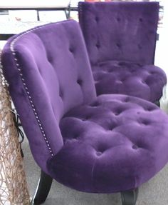 Pinner said... I saw these purple velvet chairs at Ross Dress for Less in the Cordova Mall ~ Pensacola, FL More